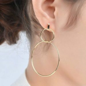 STATEMENT EARRINGS - Double Gold Hoop